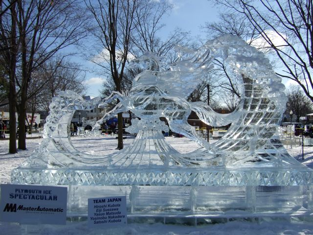 Plymouth Ice Festival Detroit Mommies