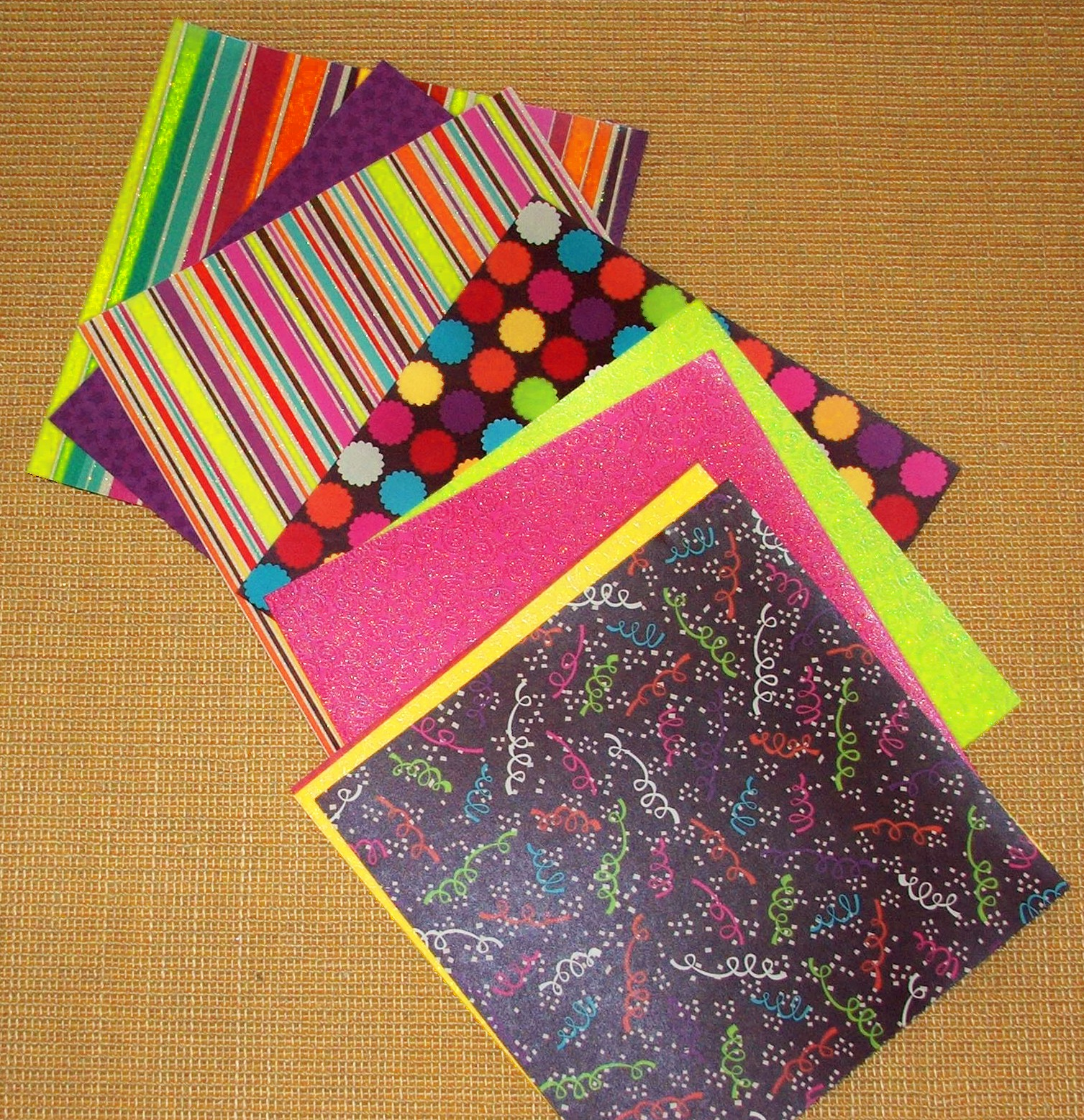 How to make scrapbook paper designs - Then Lay The Sheets Of Scrapbooking Paper Out On The Floor Move The Sheets Around Until You Find A Design That You Like Best