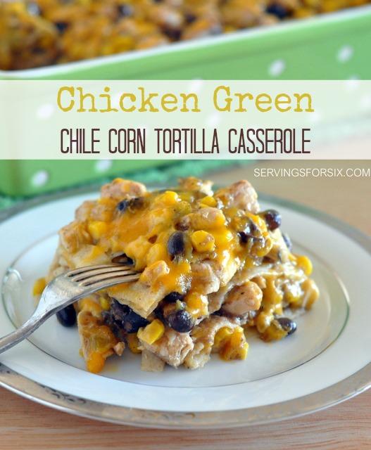 girlichef: Green Chile Chicken Tortilla Casserole {#SundaySupper ...
