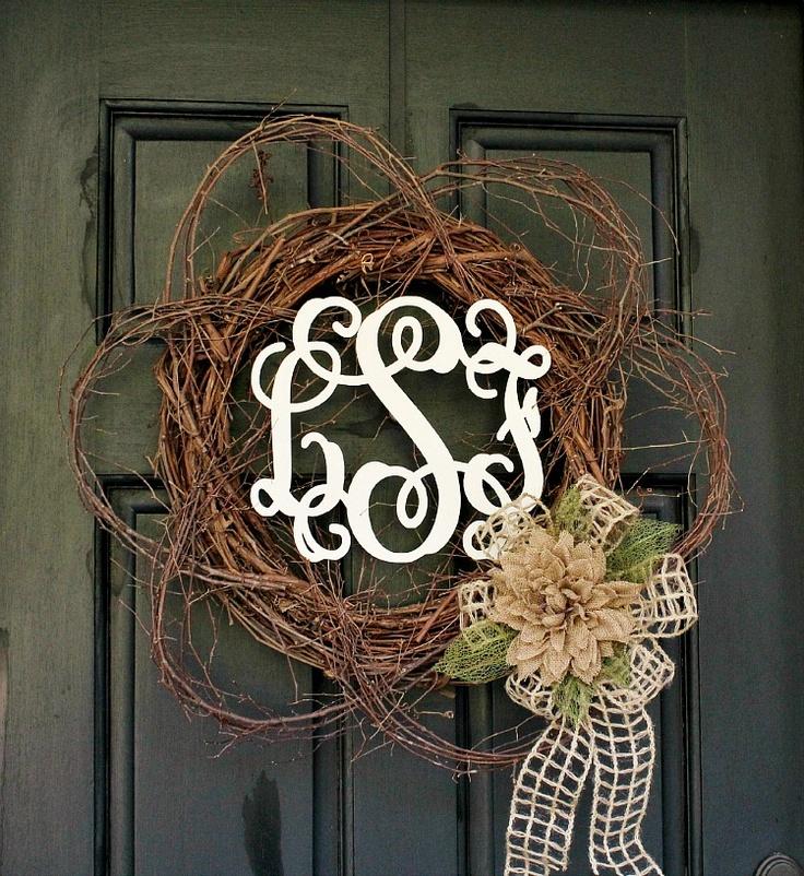 Diy Monogram Fall Wreath: 7 DIY Fall Wreath Ideas