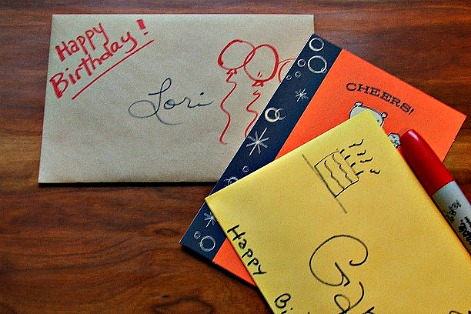 Birthday Card Envelope Decorations Image Inspiration of Cake and