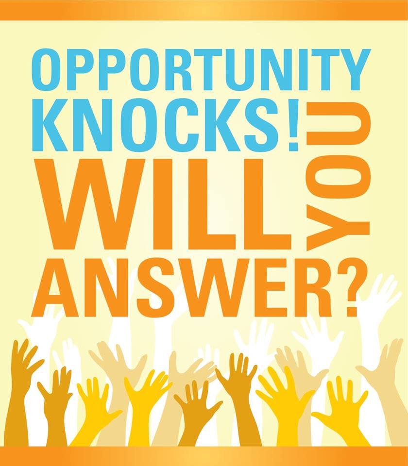 opportunity knocks once essay