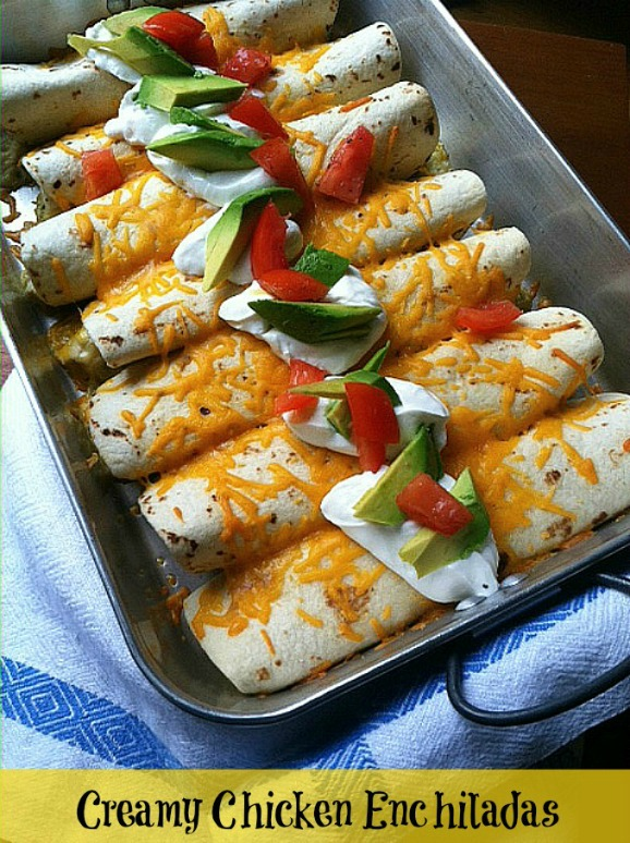 #Labels4Edu #shop Creamy-Chicken-Enchiladas