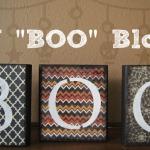 DIY Boo Blocks