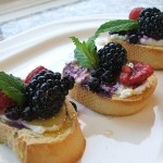 Triple Berry Bruschetta is the Perfect Dessert for Italian Night