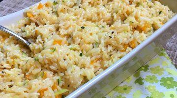 AD Cheesy Zucchini and Pepper Rice Recipe